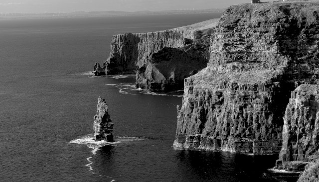 Cliff of Moher, Ireland - BW