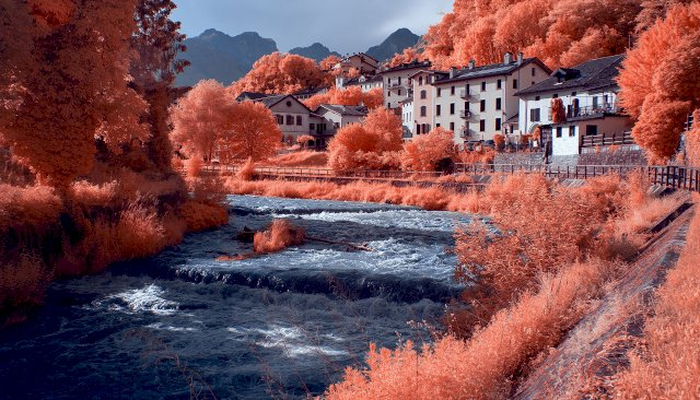 Torrente Ardo in infrared - Belluno